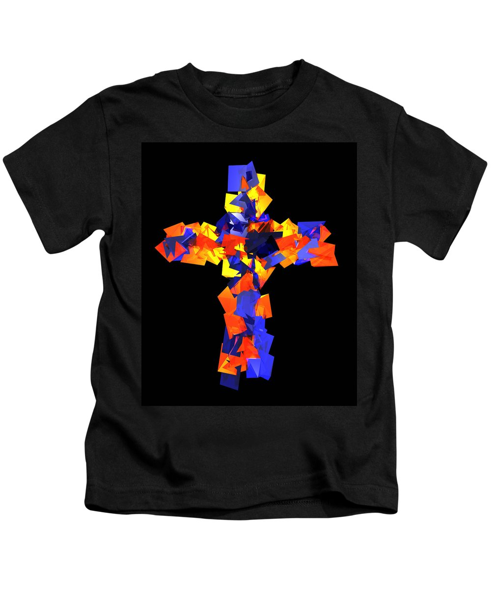 Kids T-Shirt featuring the digital art Stained Tries 16 by Zac AlleyWalker Lowing