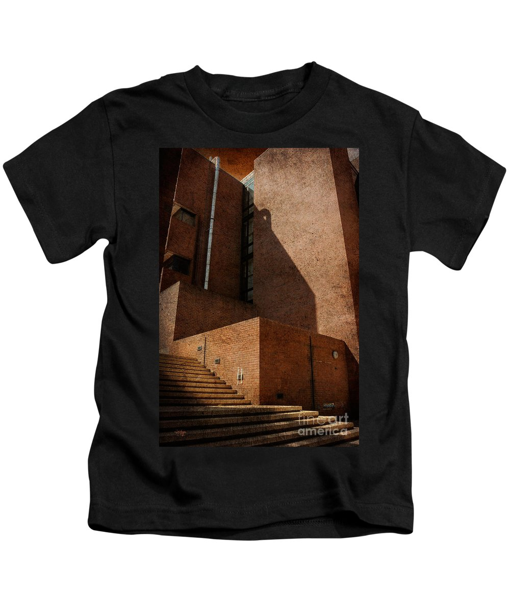 Stairs Kids T-Shirt featuring the photograph Stairway To Nowhere by Lois Bryan