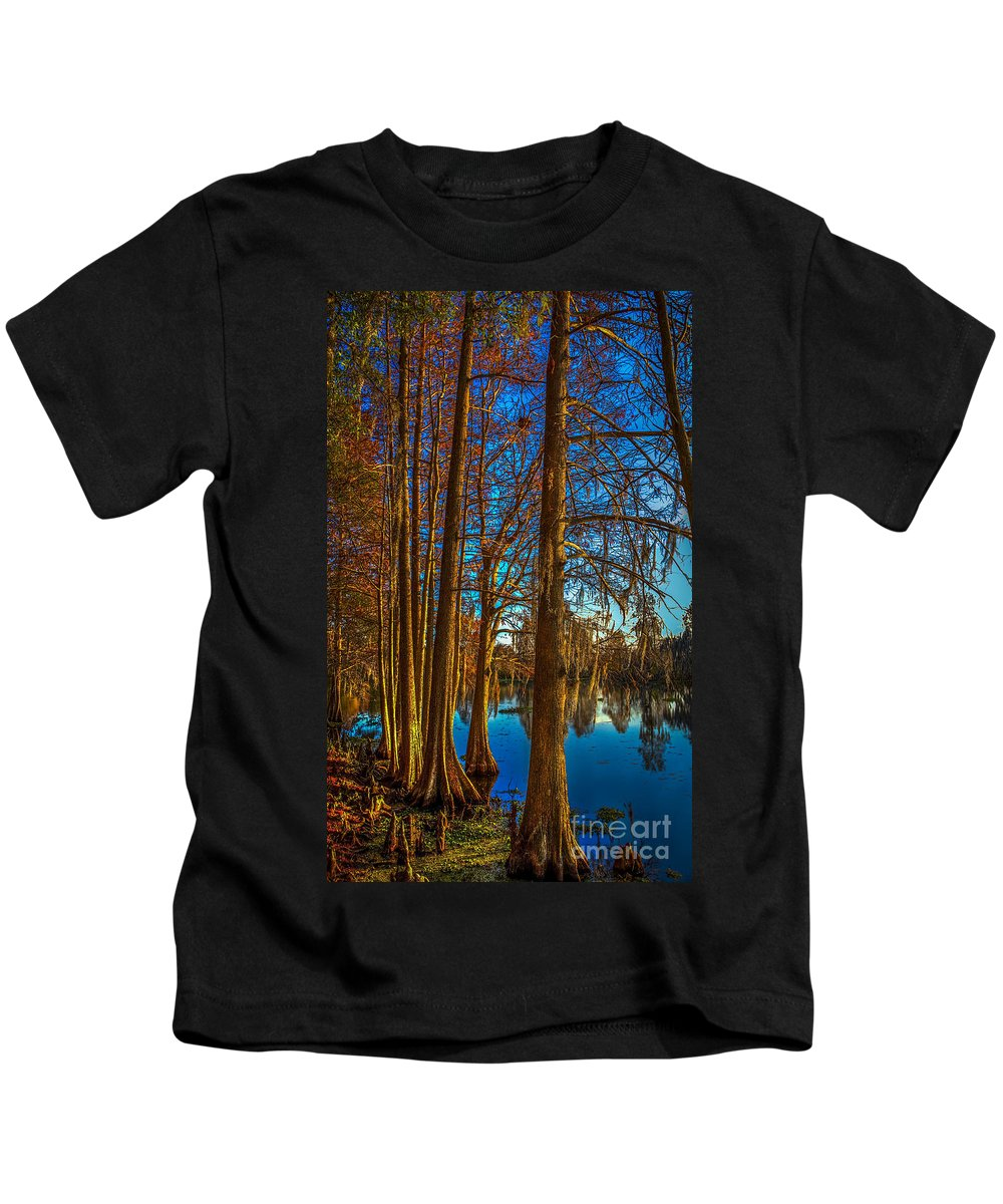Cypress Knees Photographs Kids T-Shirts