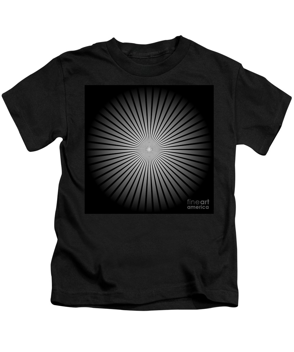 Background Kids T-Shirt featuring the digital art Star Black by Henrik Lehnerer