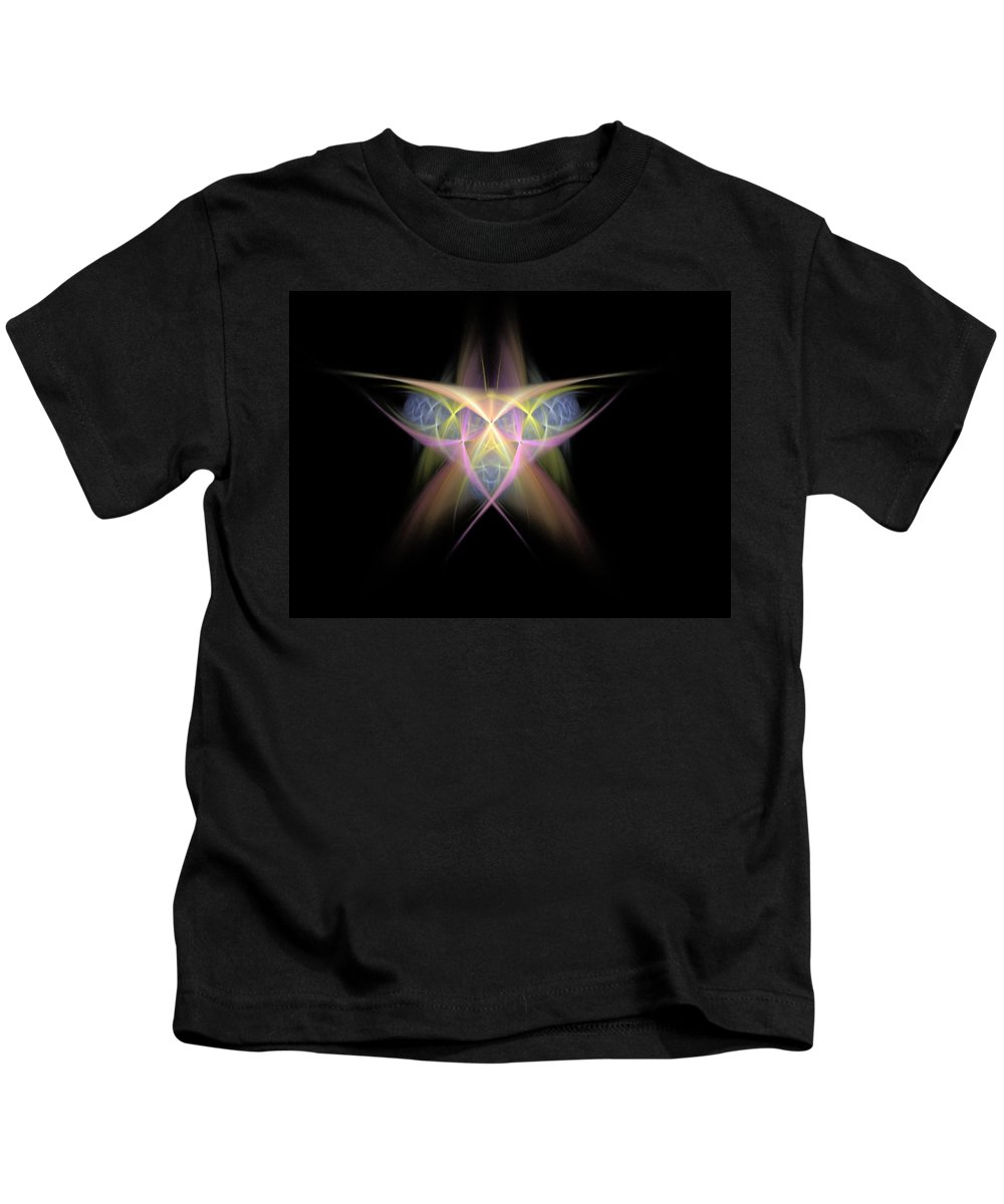 Fractal Kids T-Shirt featuring the painting Star by Bruce Nutting