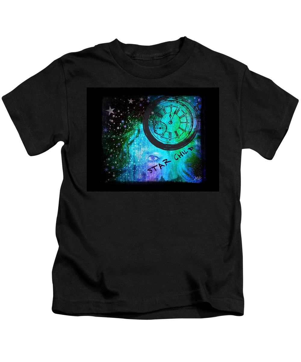 Star Kids T-Shirt featuring the digital art Star Child - Time To Go Home by Absinthe Art By Michelle LeAnn Scott