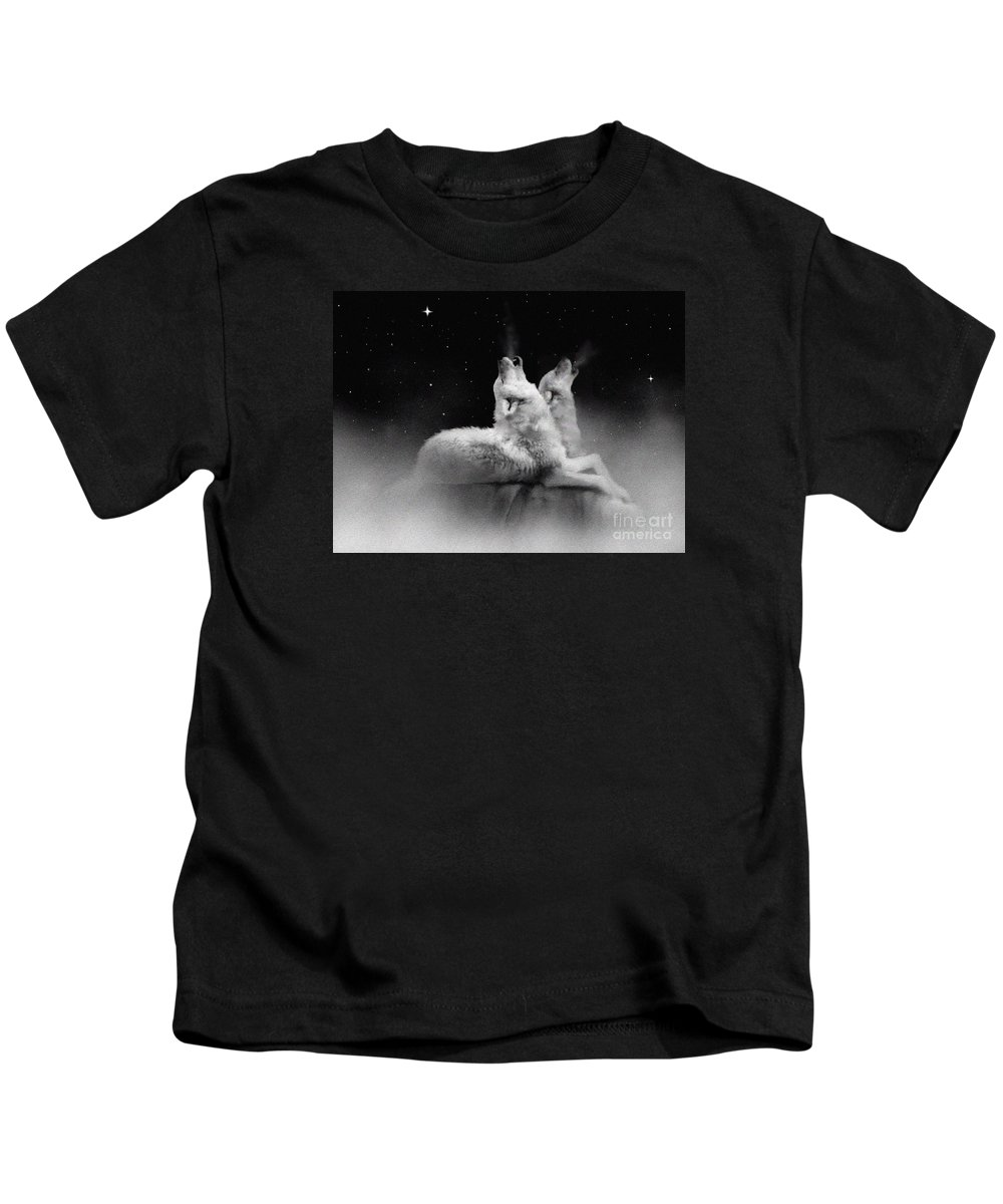 Wolf Kids T-Shirt featuring the painting Star Talkers by Robert Foster