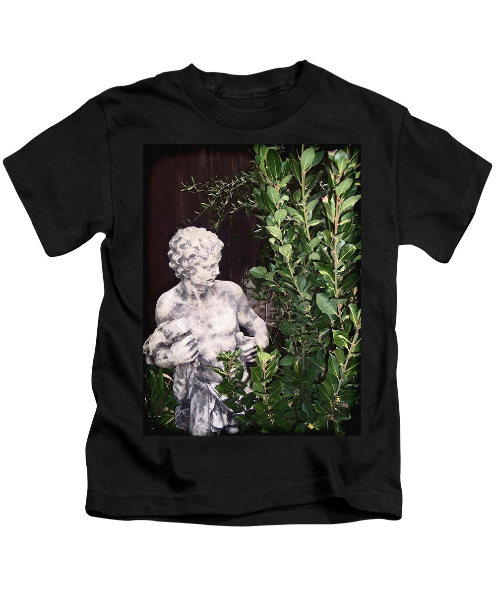 Statue Kids T-Shirt featuring the photograph Statue 1 by Pamela Cooper