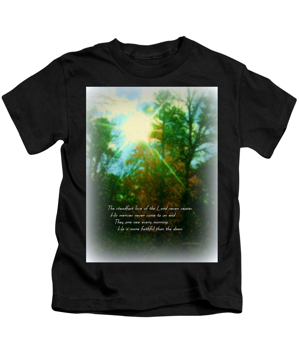 Christian Kids T-Shirt featuring the photograph Steadfast Love by Bob and Kathy Frank
