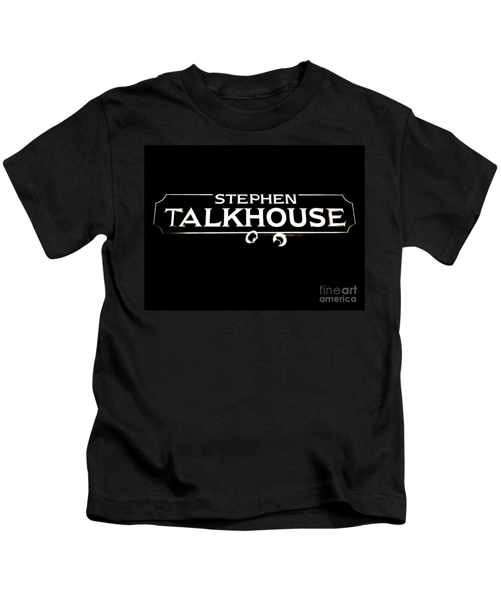 Signs Kids T-Shirt featuring the photograph Stephen Talkhouse by Ed Weidman