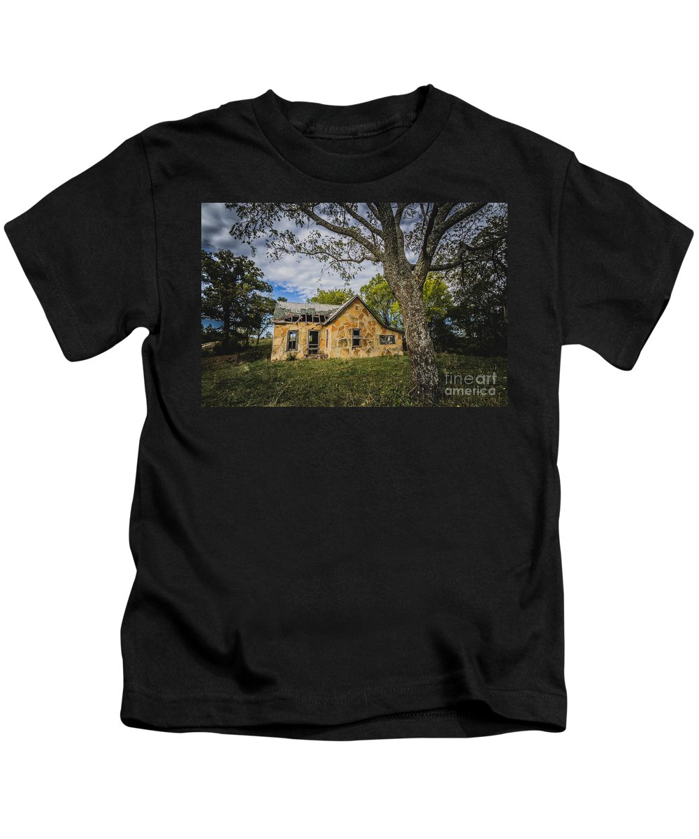 Abandoned Kids T-Shirt featuring the photograph Stone House by Ashley M Conger