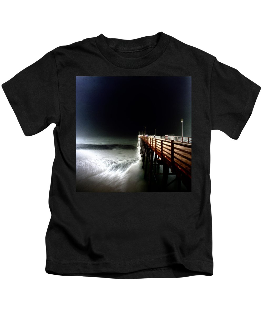 Oceanside Kids T-Shirt featuring the photograph Storm Surge by Hugh Smith