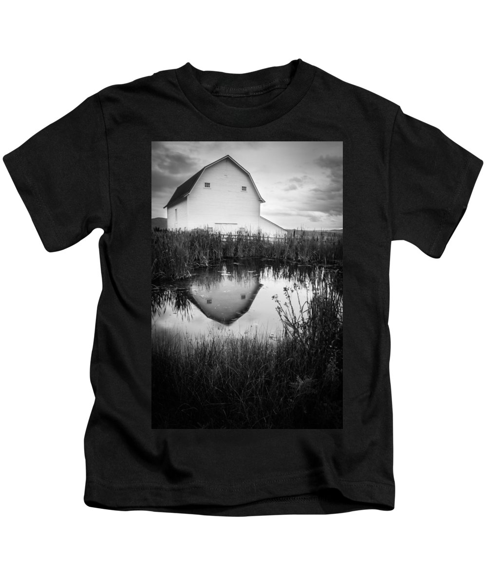 Gigimarie Kids T-Shirt featuring the photograph Straight Faced by Gina Herbert