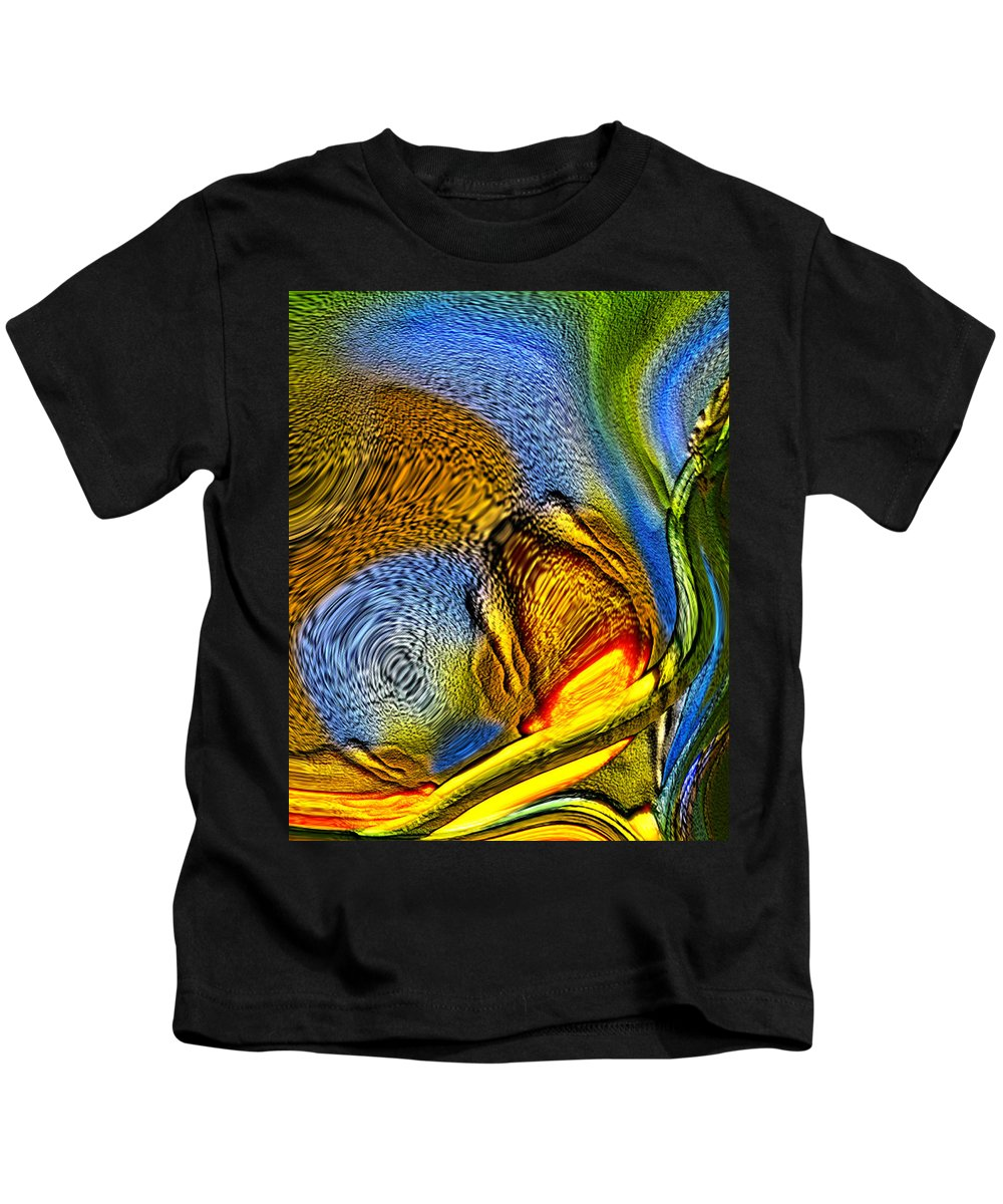 Abstract Kids T-Shirt featuring the digital art Strangely In A Starry Land by Richard Thomas