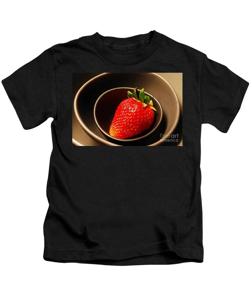 Strawberry Kids T-Shirt featuring the photograph Strawberry In Nested Bowls by Nancy Mueller