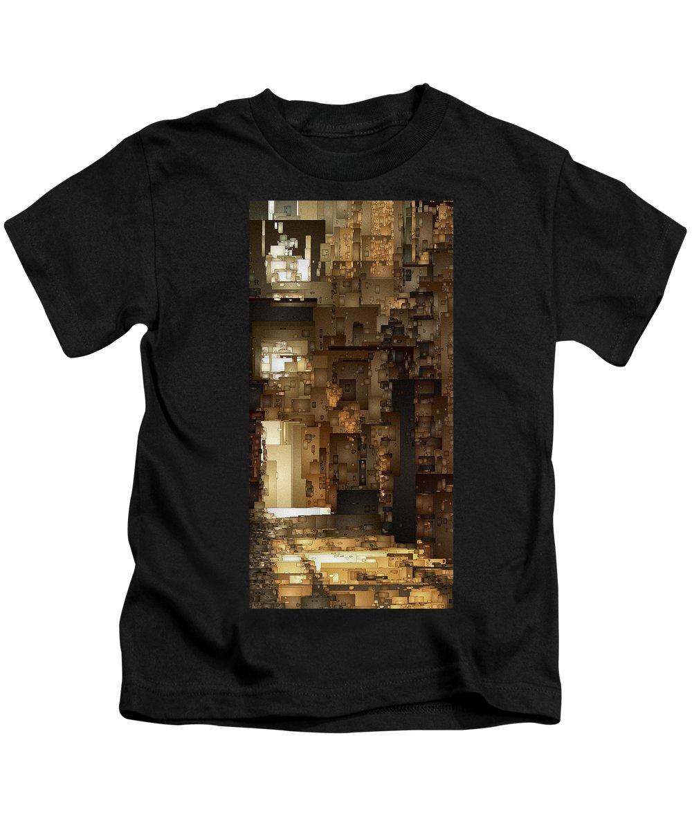 Digital Kids T-Shirt featuring the digital art Streets Of Gold by David Hansen