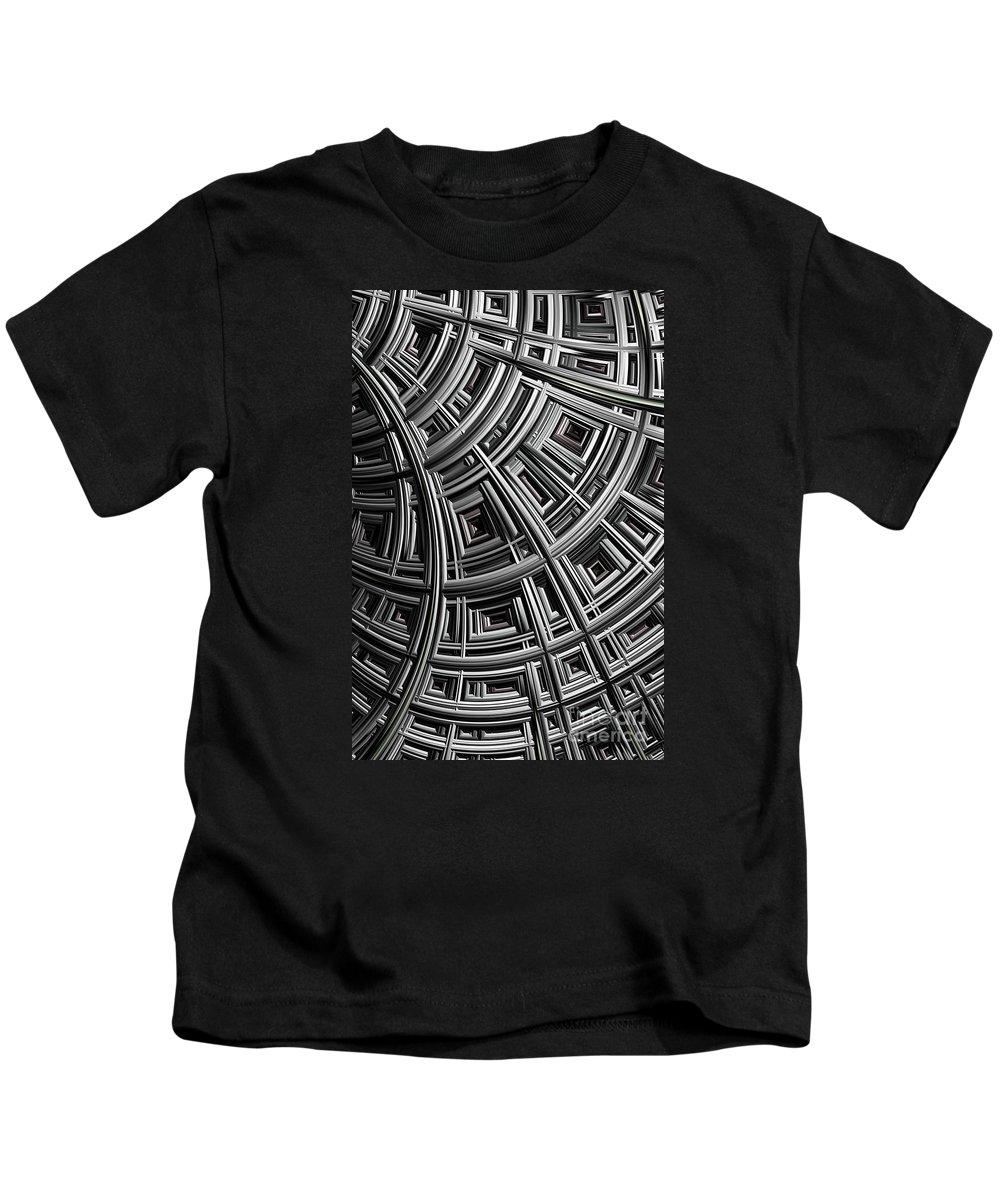 Mesh Kids T-Shirt featuring the digital art Structure by John Edwards