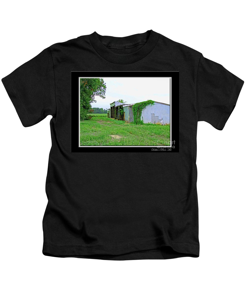 Arcitecture Kids T-Shirt featuring the photograph Summer Farm Sheds by Debbie Portwood
