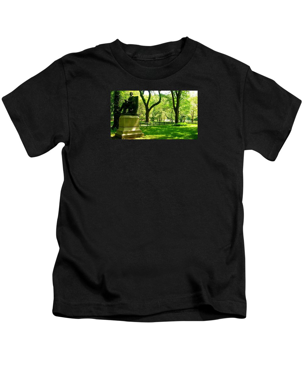 Central Park Prints Kids T-Shirt featuring the photograph Summer In Central Park Manhattan by Monique's Fine Art