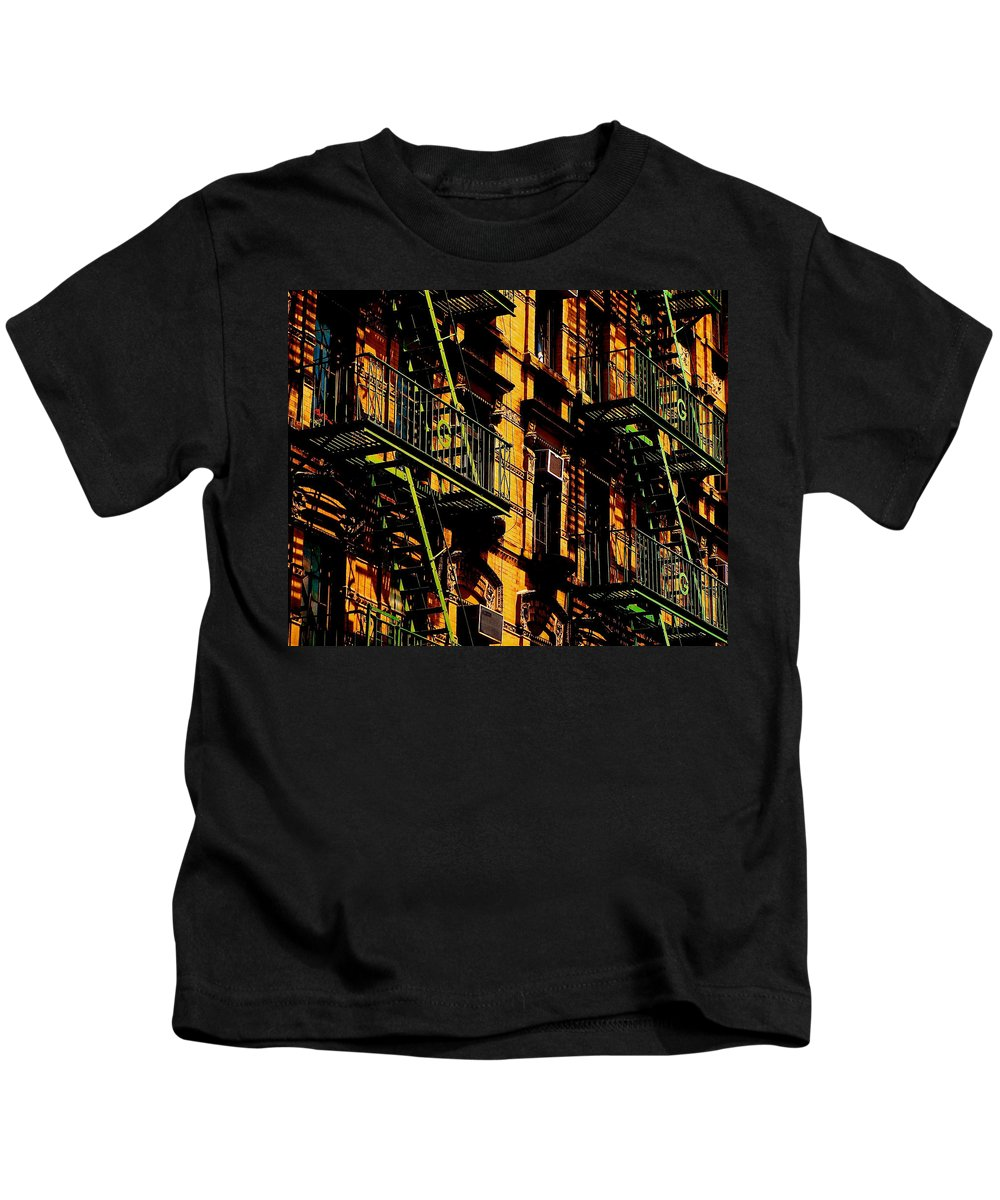 New York City Kids T-Shirt featuring the photograph Summertime Sizzle by Ira Shander