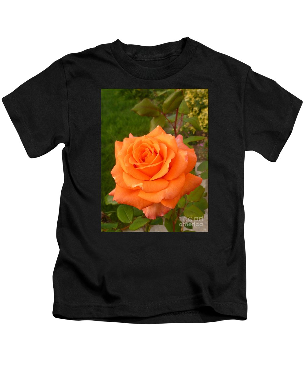 Flower Kids T-Shirt featuring the photograph Sun Kiss Orange by Lingfai Leung