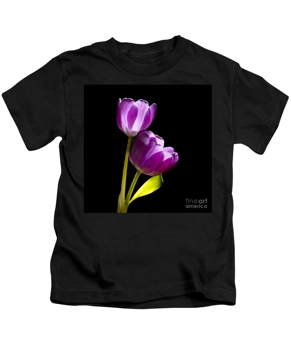 Tulip Kids T-Shirt featuring the photograph Sun Kissed by Betty LaRue