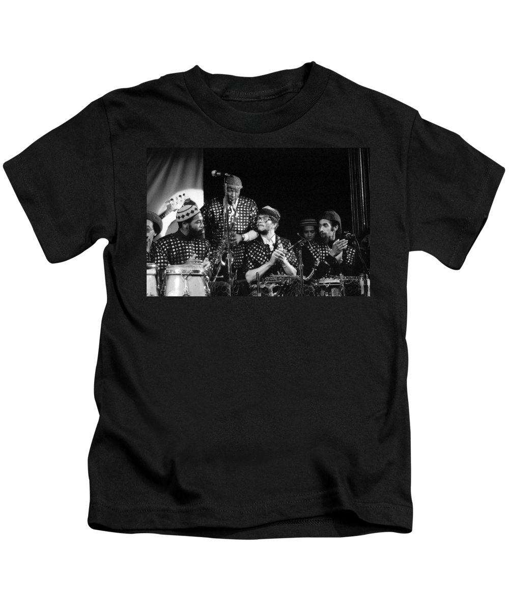 Jazz Kids T-Shirt featuring the photograph Sun Ra Arkestra With John Gilmore by Lee Santa