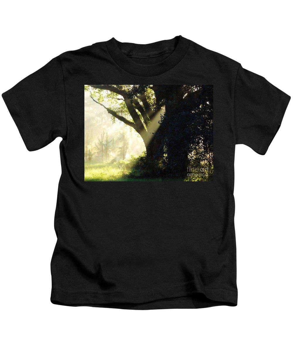 Sunshine Kids T-Shirt featuring the photograph Sunbeam Tree by D Hackett