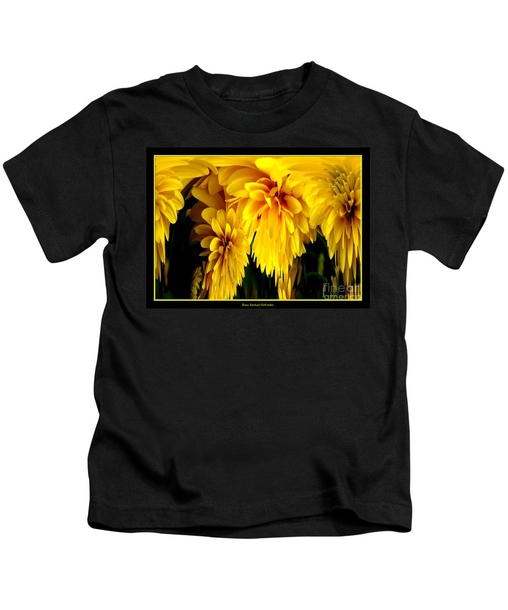 Sunflower Kids T-Shirt featuring the photograph Sunflower Abstract 1 by Rose Santuci-Sofranko