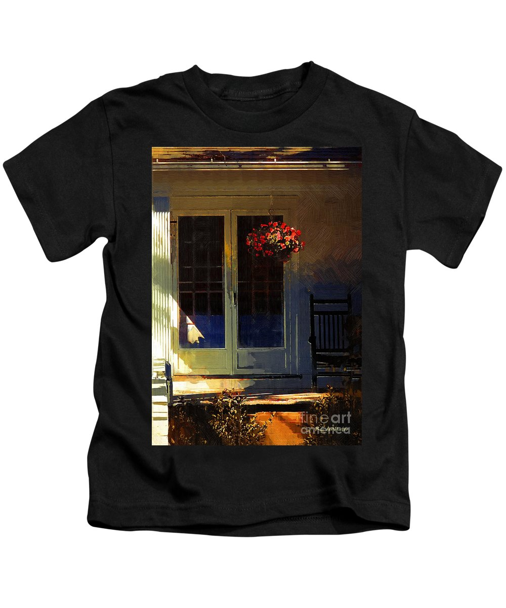 House Kids T-Shirt featuring the painting Sunlight On Scarlet - New England Autumn by RC DeWinter