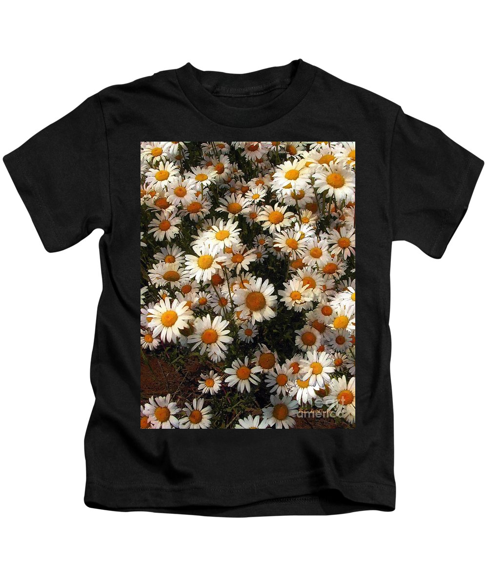 Daisies Kids T-Shirt featuring the painting Sunnyside Up by RC DeWinter