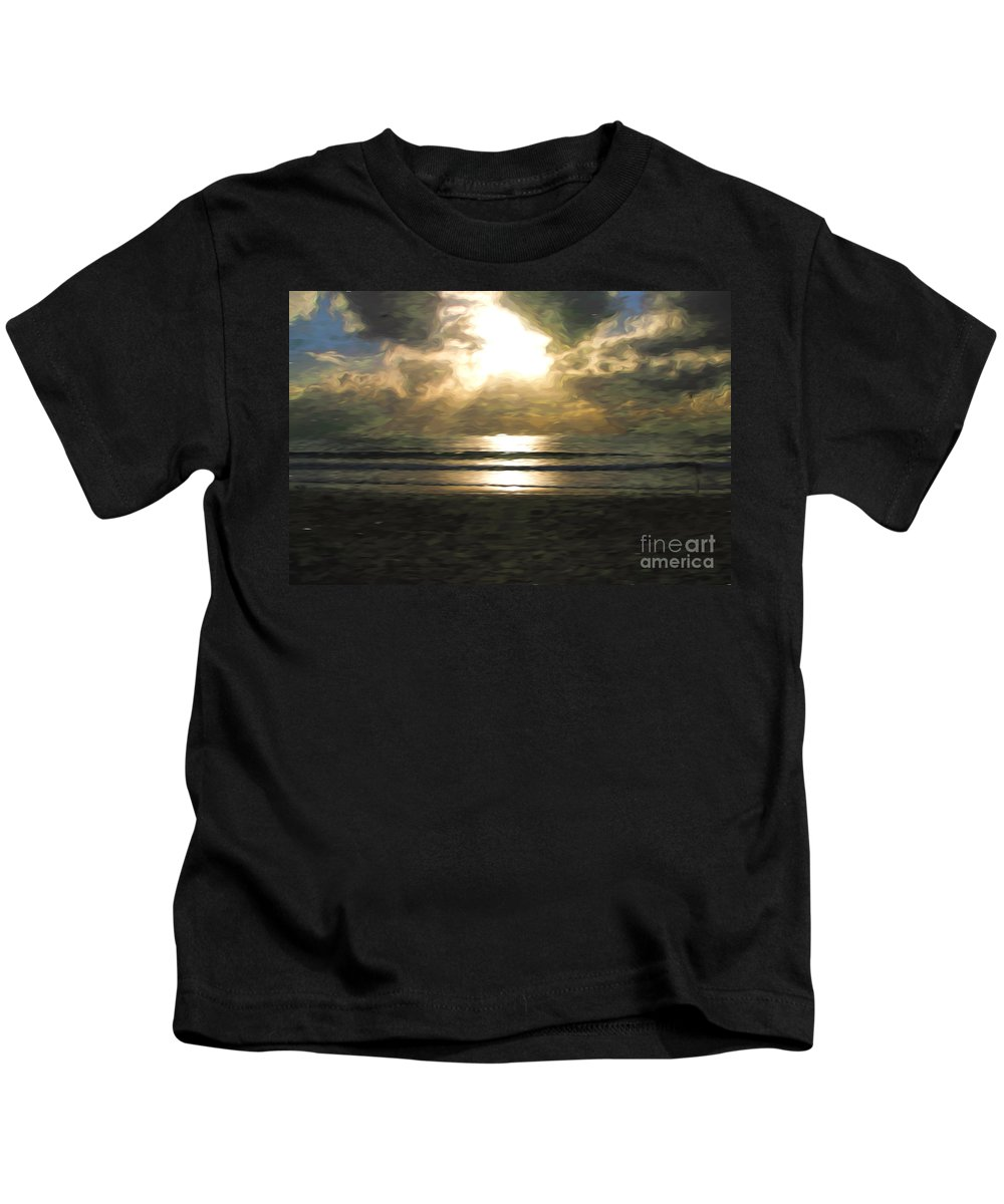 Sunrise Kids T-Shirt featuring the photograph Sunrise over the Pacific by Sheila Smart Fine Art Photography