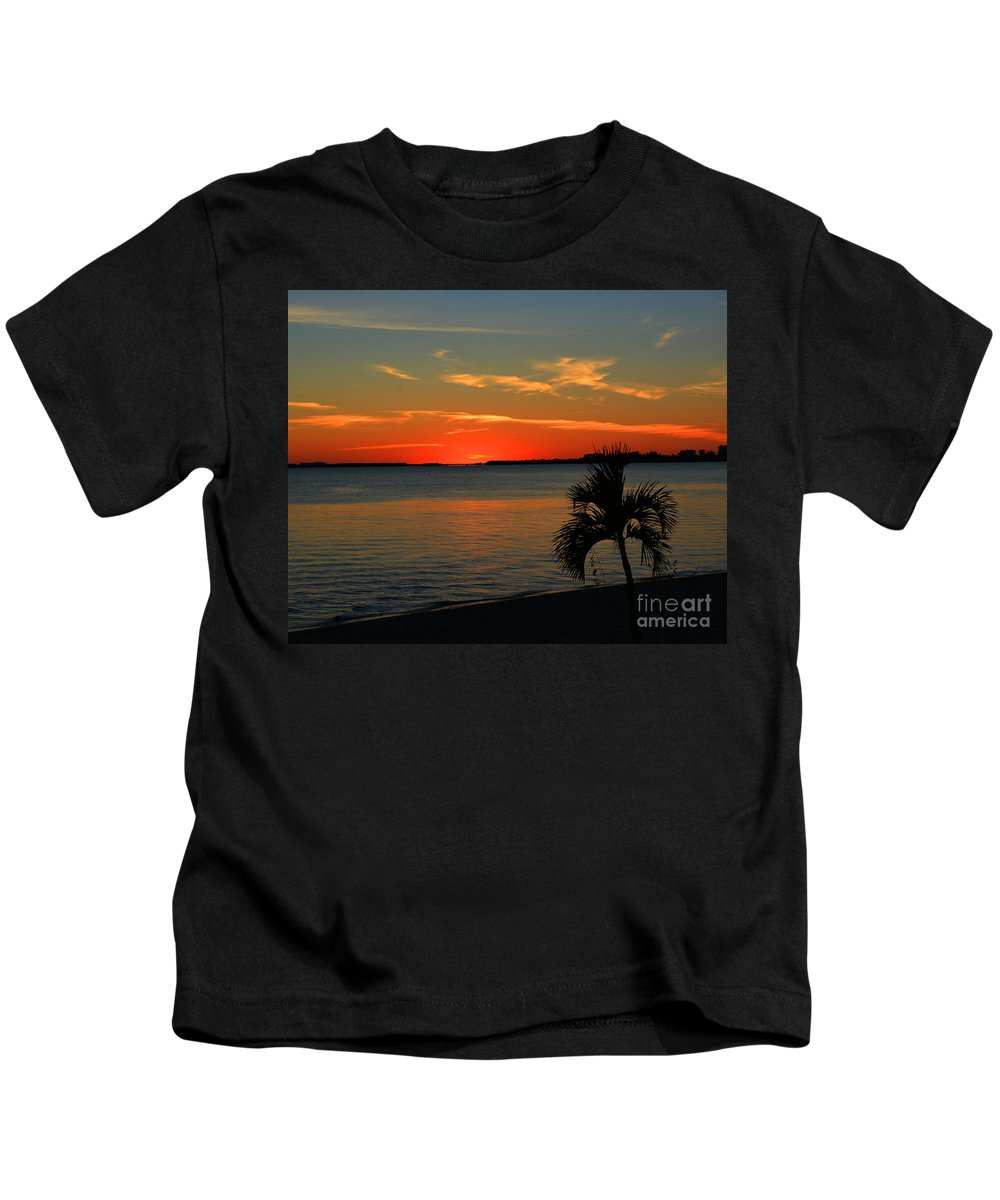Sunset Afterglow Kids T-Shirt featuring the photograph Sunset Afterglow by Christine Dekkers