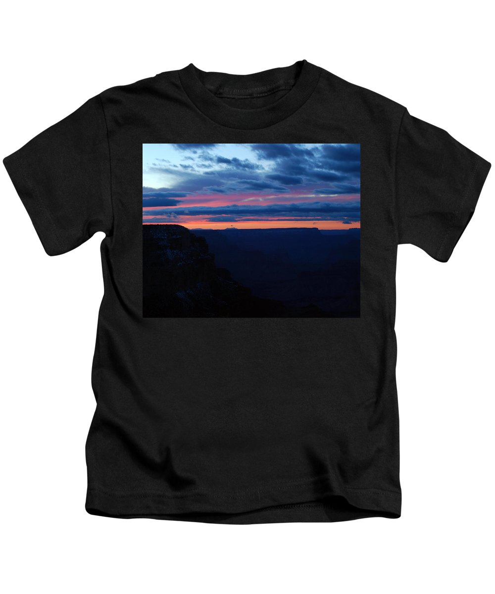 Grand Canyon Kids T-Shirt featuring the photograph Sunset At The Grand Canyon by Pamela Peters