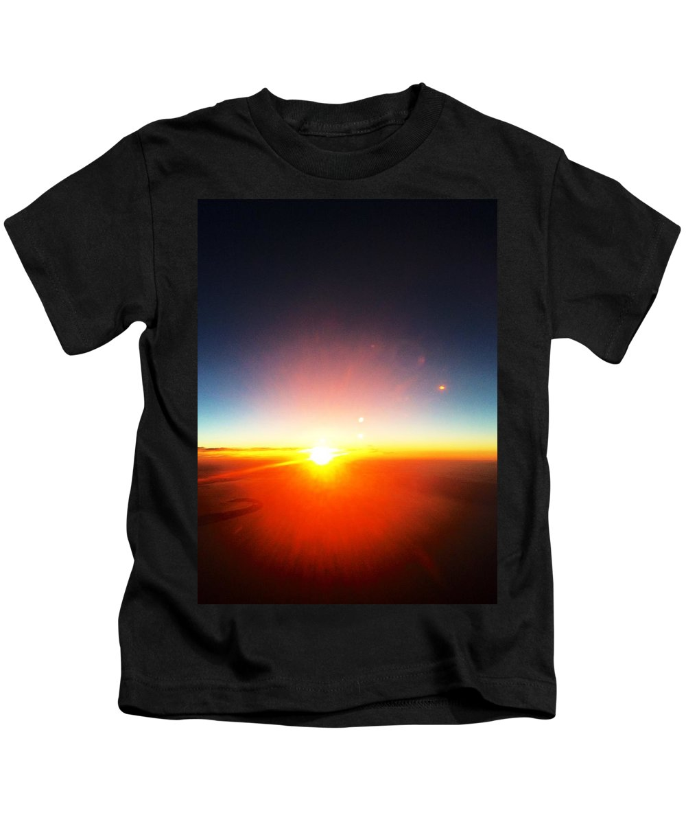 Landscape Kids T-Shirt featuring the photograph Sunset Glow by Csilla Florida
