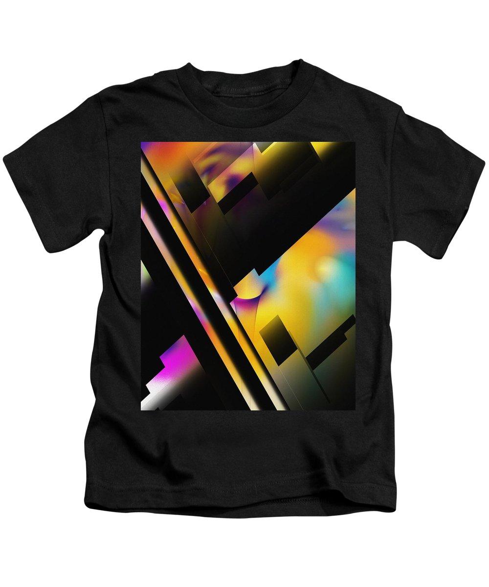 Fine Art Kids T-Shirt featuring the digital art Sunset In The City by David Lane