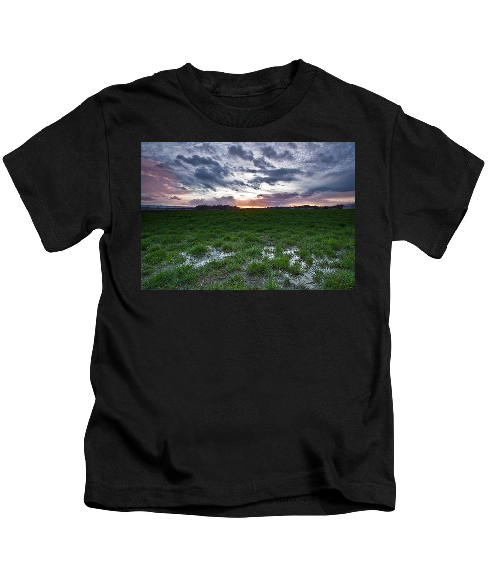 Swamp Kids T-Shirt featuring the photograph Sunset In The Swamp by Eti Reid
