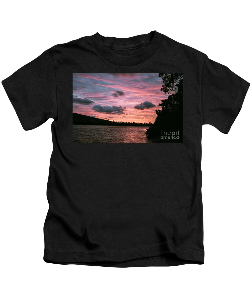 Sunset Kids T-Shirt featuring the photograph Sunset Over Lake Bailey by Optical Playground By MP Ray
