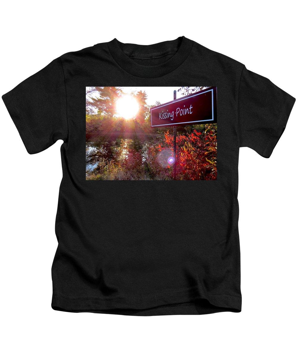 Fall Kids T-Shirt featuring the photograph Sunset Rendezvous by Craig Bohnert