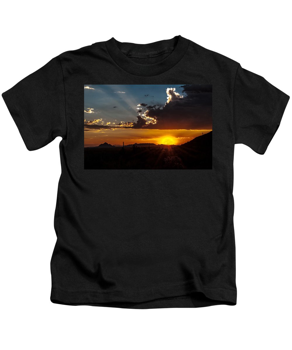 Sunset Kids T-Shirt featuring the photograph Sunset by Tam Ryan