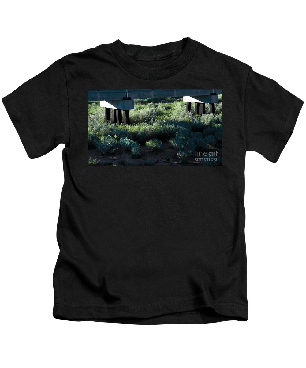 Digital Color Photo Kids T-Shirt featuring the digital art Supported by Tim Richards