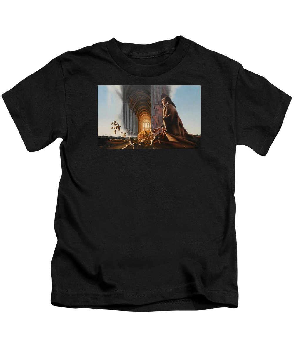 Surreal Kids T-Shirt featuring the painting The Cathedral by Dave Martsolf