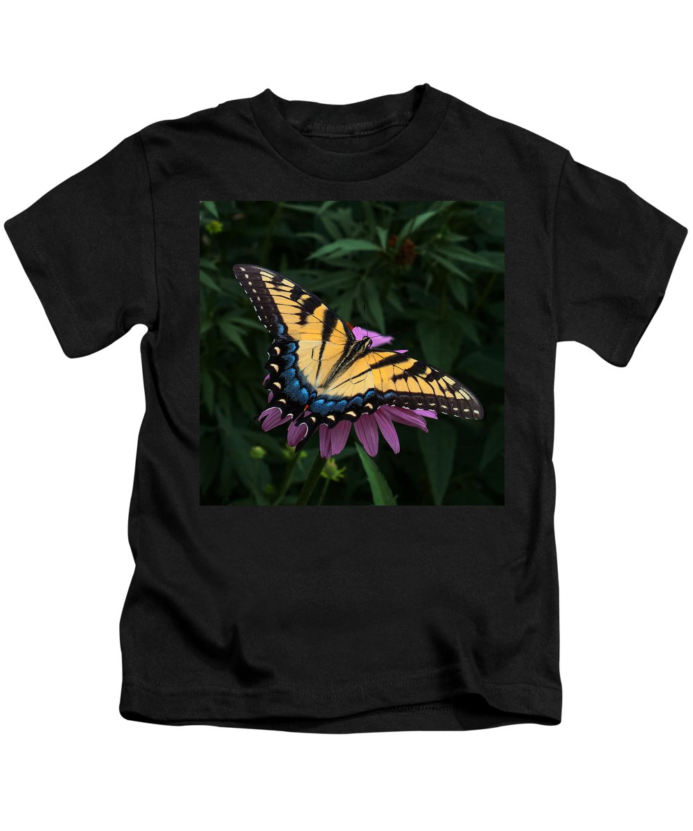 Butterfly Kids T-Shirt featuring the photograph Swallowtail by Don Spenner