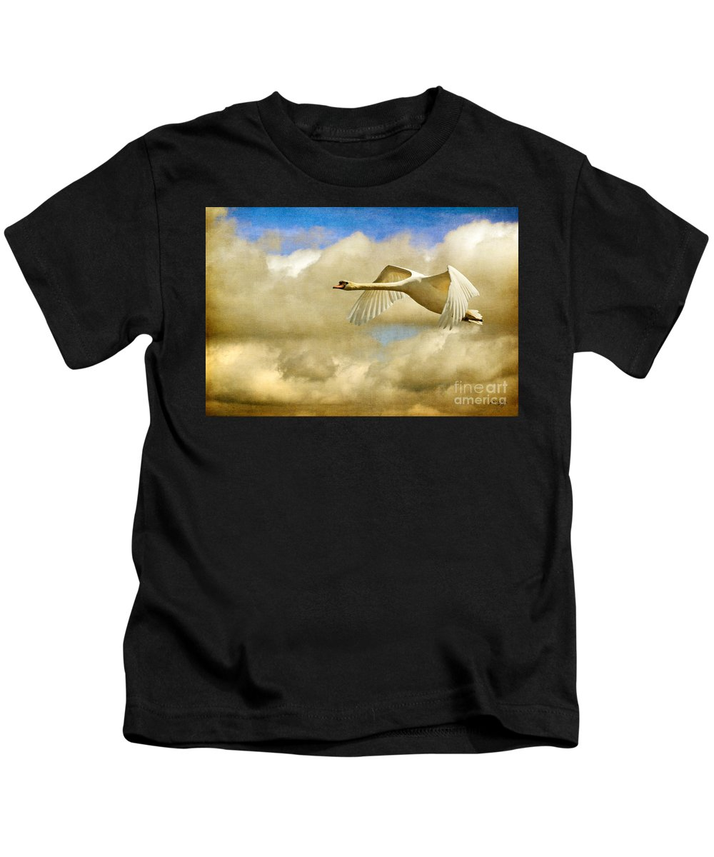 Nature Kids T-Shirt featuring the photograph Swan Song by Lois Bryan
