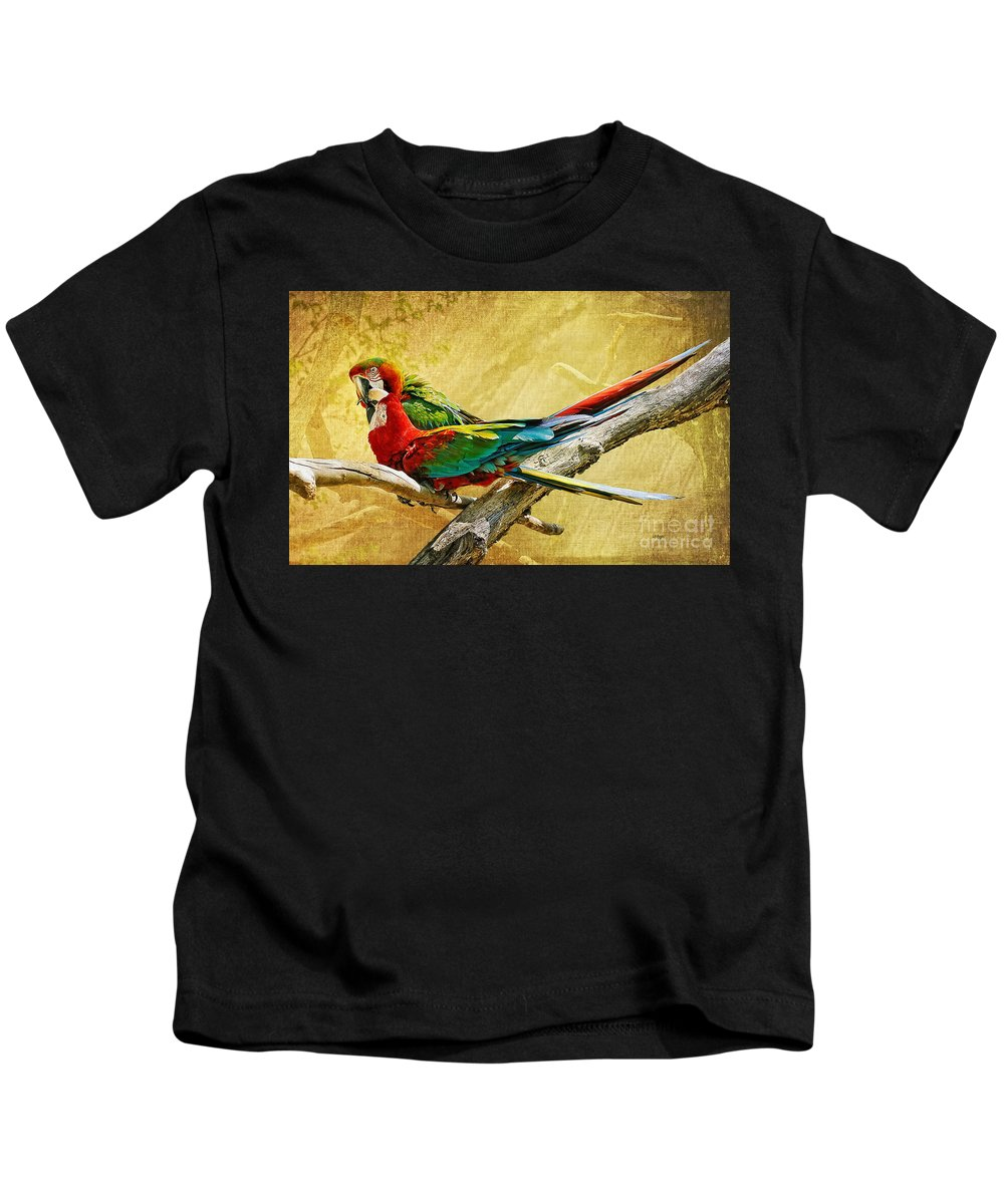 Parrot Kids T-Shirt featuring the photograph Sweet Sweet Love by Lois Bryan