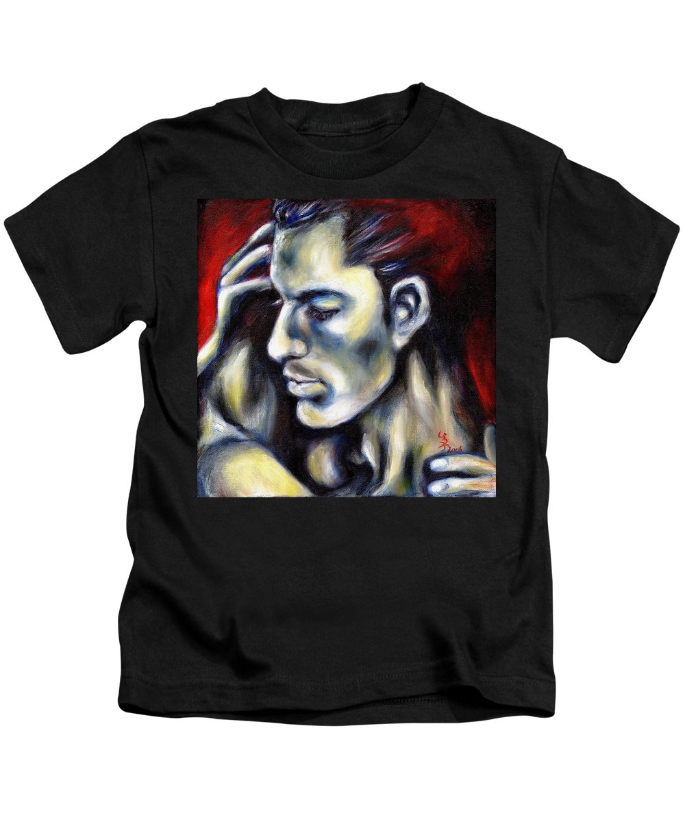 Man Kids T-Shirt featuring the painting Sweetest Taboo by Hiroko Sakai