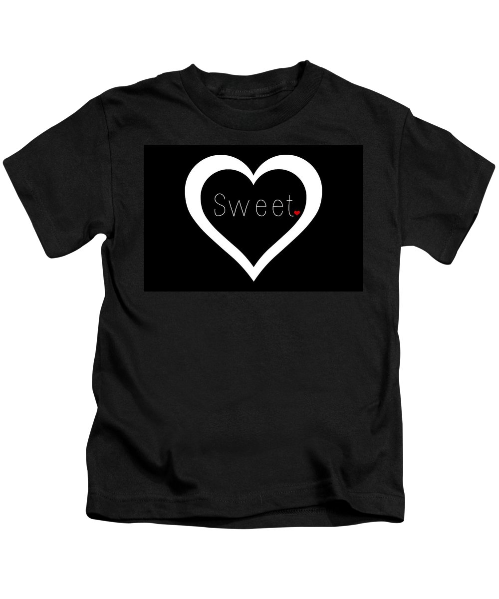 Sweetheart Kids T-Shirt featuring the digital art Sweetheart by Chastity Hoff