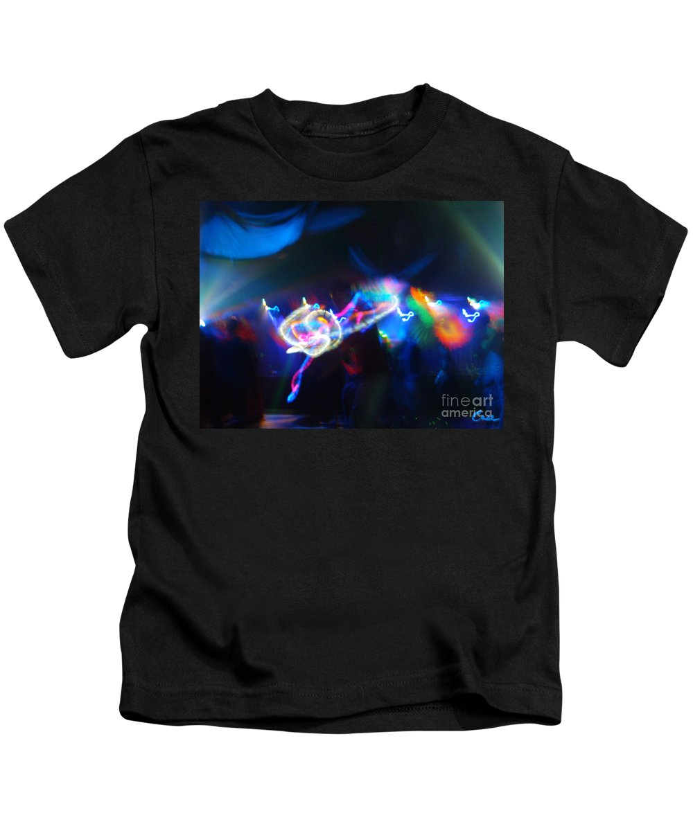 Swerve And Rave Kids T-Shirt featuring the photograph Swerve And Rave by Feile Case