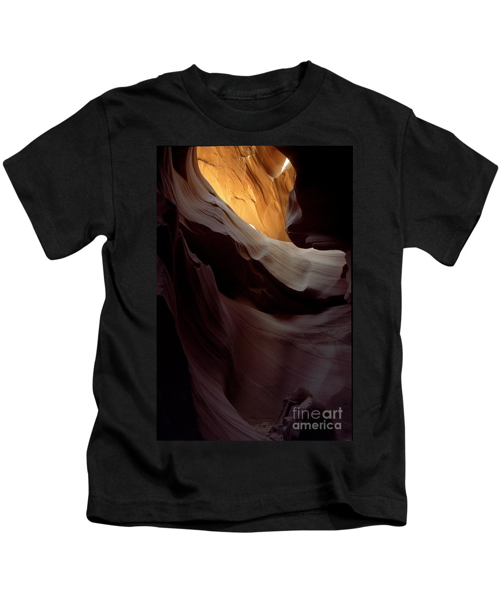 Slot Canyons Kids T-Shirt featuring the photograph Swopes by Kathy McClure