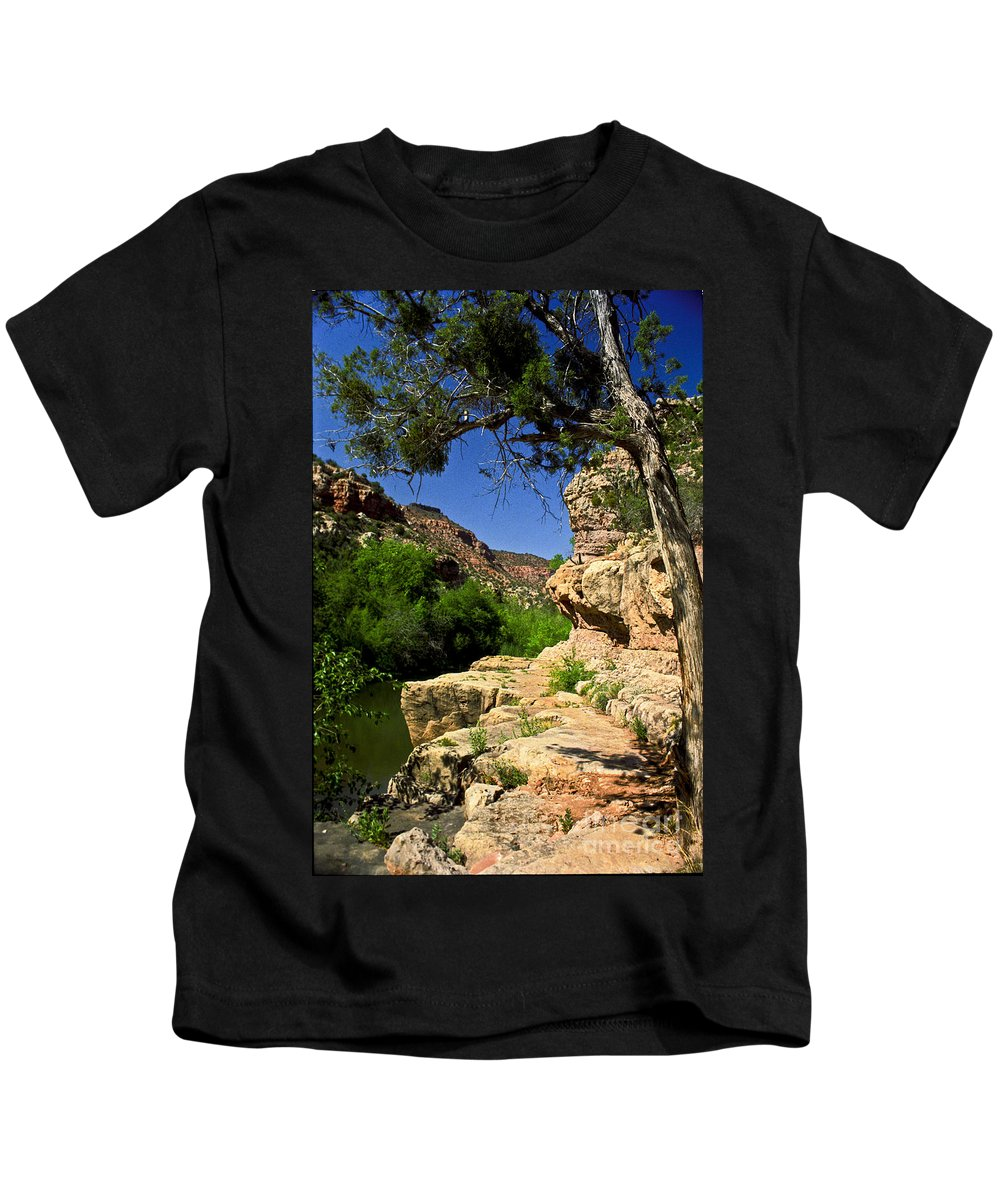 Arizona Kids T-Shirt featuring the photograph Sycamore Canyon by Kathy McClure