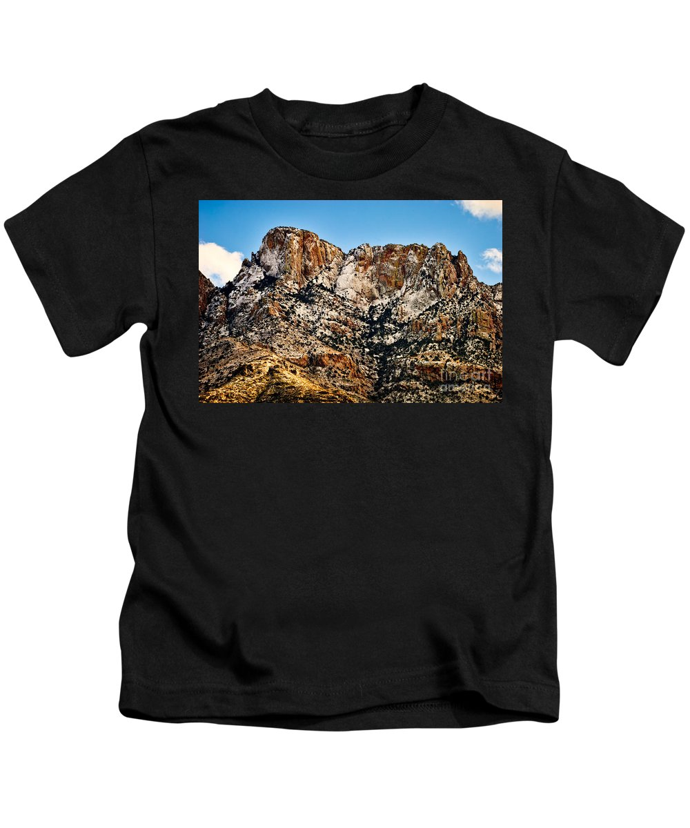 Arizona Kids T-Shirt featuring the photograph Table Mountain In Winter 42 by Mark Myhaver