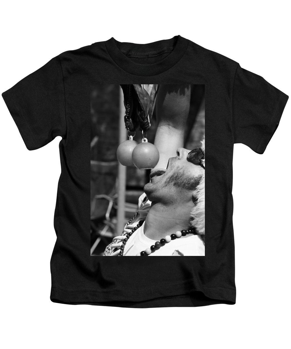 Pride Festival Kids T-Shirt featuring the photograph Tasty Juggler by The Artist Project