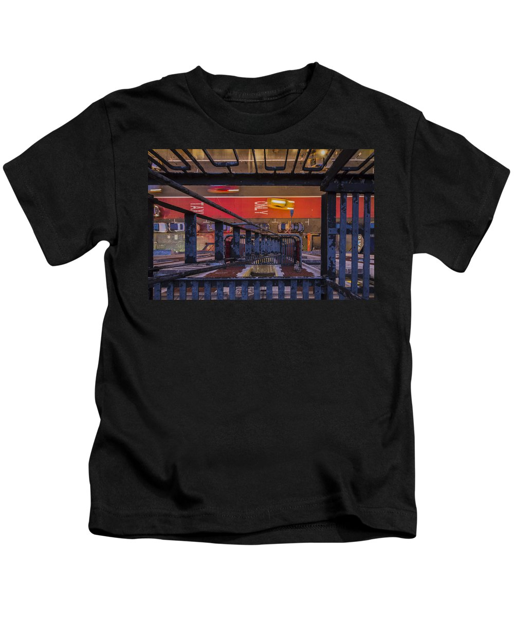 Motion Kids T-Shirt featuring the photograph Taxi Only by Scott Campbell