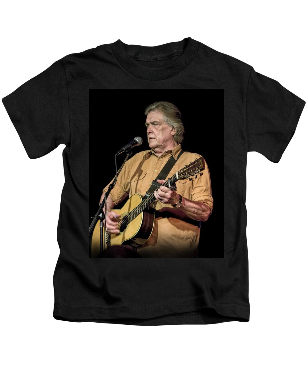 Art Kids T-Shirt featuring the photograph Texas Singer Songwriter Guy Clark by Randall Nyhof
